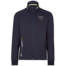 Buy Hackett London Aston Martin Racing Full Zip Hooded Jumper, Navy Online at johnlewis.com