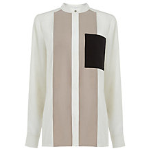 Buy Warehouse Colour Block Shirt, Mink Online at johnlewis.com