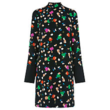 Buy Warehouse Geo Party Shift Dress, Black Online at johnlewis.com