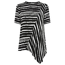 Buy Warehouse Torn Stripe T-Shirt, Multi Online at johnlewis.com