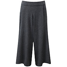 Buy Pure Collection Nadia Knitted Culottes, Charcoal Online at johnlewis.com