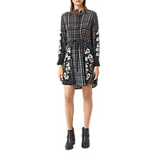 Buy AllSaints Sanko Prairie Dress, Black Online at johnlewis.com