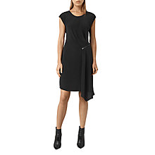 Buy AllSaints Kado Silk Dress, Black Online at johnlewis.com