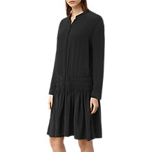 Buy AllSaints Briar Silk Dress, Black Online at johnlewis.com