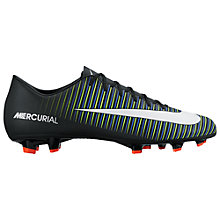 Buy Nike Mercurial Victory VI FG Men's Football Boots, Black/Multi Online at johnlewis.com