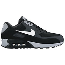 Buy Nike Air Max 90 Essential Men's Trainers, Black/White Online at johnlewis.com