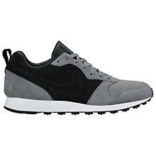Buy Nike MD Runner 2 Leather Premium Men's Trainers, Cool Grey/Black Online at johnlewis.com