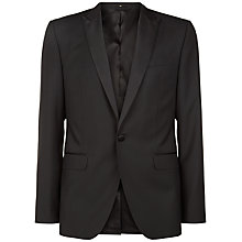 Buy Jaeger Wool Mohair Peak Lapel Slim Dinner Suit Jacket, Black Online at johnlewis.com
