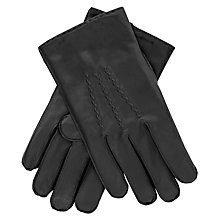 Buy Thomas Pink Lupton Leather Gloves, Black Online at johnlewis.com