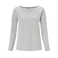 Buy Collection WEEKEND by John Lewis Stripe Drop Sleeve Top, Ivory/Navy Online at johnlewis.com