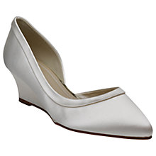 Buy Rainbow Club Edna Wedge Heeled Court Shoes, Ivory Online at johnlewis.com