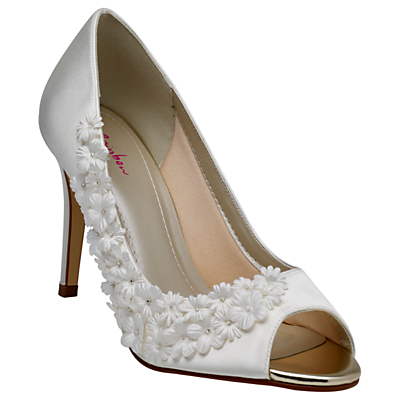 Rainbow Club Amelia Satin Stiletto Heel Court Shoes, Ivory