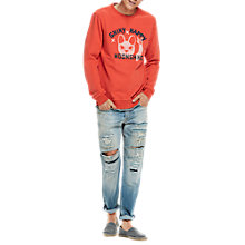 Buy Scotch & Soda 'Shiny Happy Moonshine' Graphic Sweatshirt, Hot Lips Online at johnlewis.com