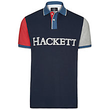Buy Hackett London Logo Colour Block Polo Shirt, Navy/Multi Online at johnlewis.com