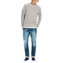 Buy Scotch & Soda Cotton Linen Jumper, Grey Melange Online at johnlewis.com