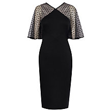 Buy Karen Millen Dot Tulle Sleeve Dress, Black Online at johnlewis.com