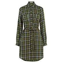 Buy Oasis Check Shirt Dress, Khaki Online at johnlewis.com
