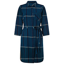 Buy White Stuff Check Shirt Dress, Deep Dusky Blue Online at johnlewis.com