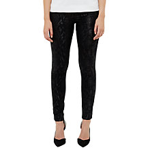 Buy Ted Baker Amillie Snake Print Metallic Jacquard Jeans, Black Online at johnlewis.com