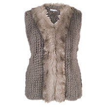 Buy Chesca Faux Fur Gilet With Faux Fur Trim Online at johnlewis.com