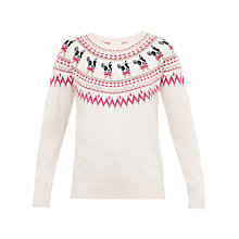 Buy Ted Baker Elion Merry Woofmas Fair Isle Jumper, Straw Online at johnlewis.com