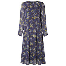 Buy White Stuff Floral Midi Dress, Silk Blue Online at johnlewis.com
