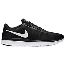 Buy Nike Flex 2016 RN Men's Running Shoes, Black/White Online at johnlewis.com