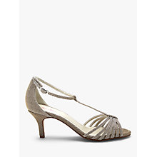 Buy Rainbow Club Estelle Stiletto Heeled Sandals, Metallic Online at johnlewis.com
