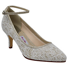 Buy Rainbow Club Evelyne Stiletto Heeled Court Shoes, Ivory Online at johnlewis.com