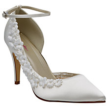 Buy Rainbow Club Fern Flower Court Shoes, Ivory Online at johnlewis.com