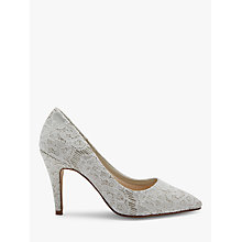 Buy Rainbow Club Giverney Stiletto Heeled Court Shoes, Ivory Online at johnlewis.com