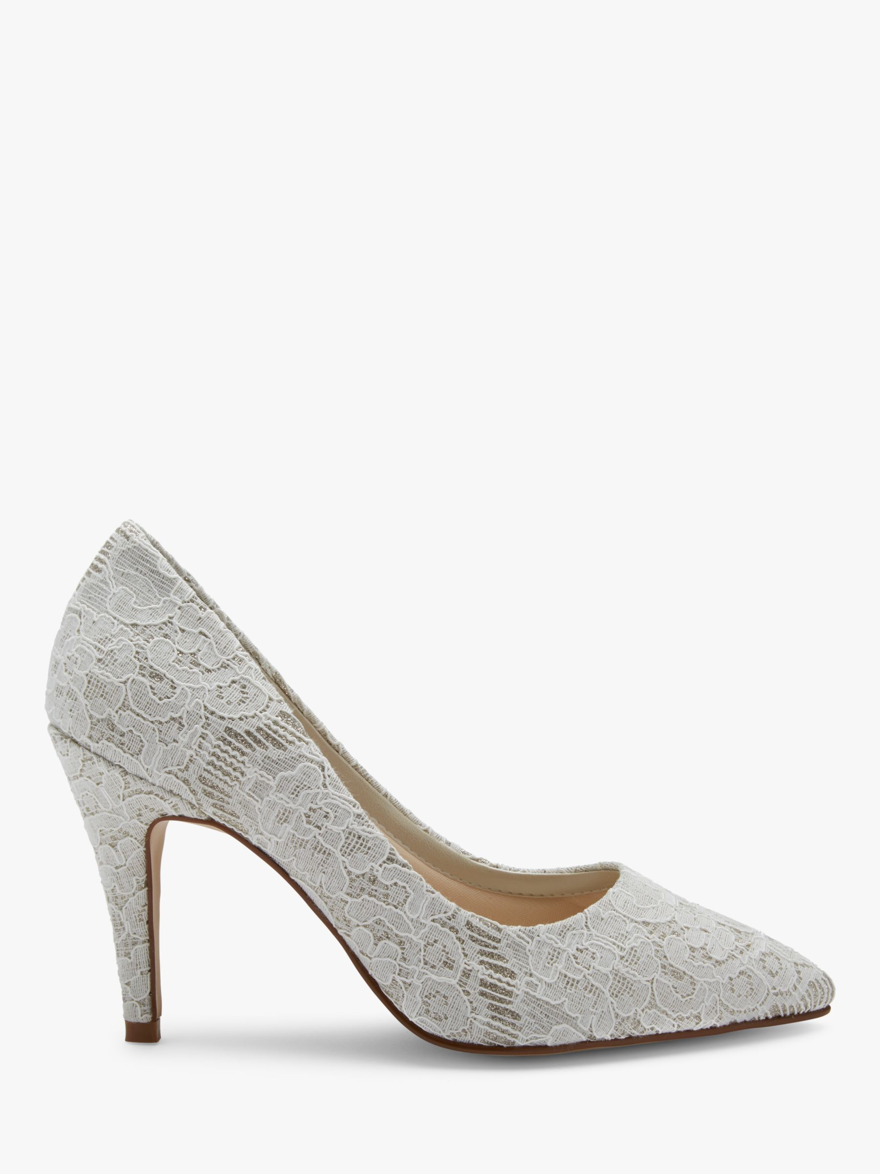 Rainbow Club Rainbow Club Giverney Stiletto Heeled Court Shoes, Ivory