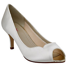 Buy Rainbow Club Ellen Peep Toe Stiletto Shoes, Ivory Online at johnlewis.com