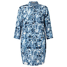Buy Calvin Klein Darby Print Shirt Dress, Indigo Flower Online at johnlewis.com