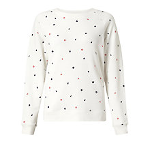 Buy Levi's Boyfriend Embroidered Sweatshirt, Koto Marshmallow Online at johnlewis.com