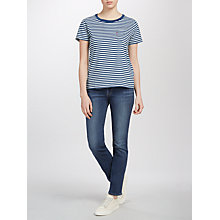 Buy Levi's 714 Mid Rise Straight Jeans, West Coast Wonder Online at johnlewis.com