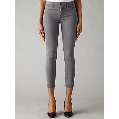 J Brand Anja Clean Cuffed Crop Skinny Jeans, Storm Grey