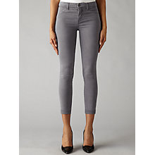 Buy J Brand Anja Clean Cuffed Crop Skinny Jeans, Storm Grey Online at johnlewis.com