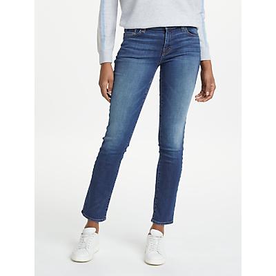 J Brand Amelia Mid Rise Straight Jeans, Vanity
