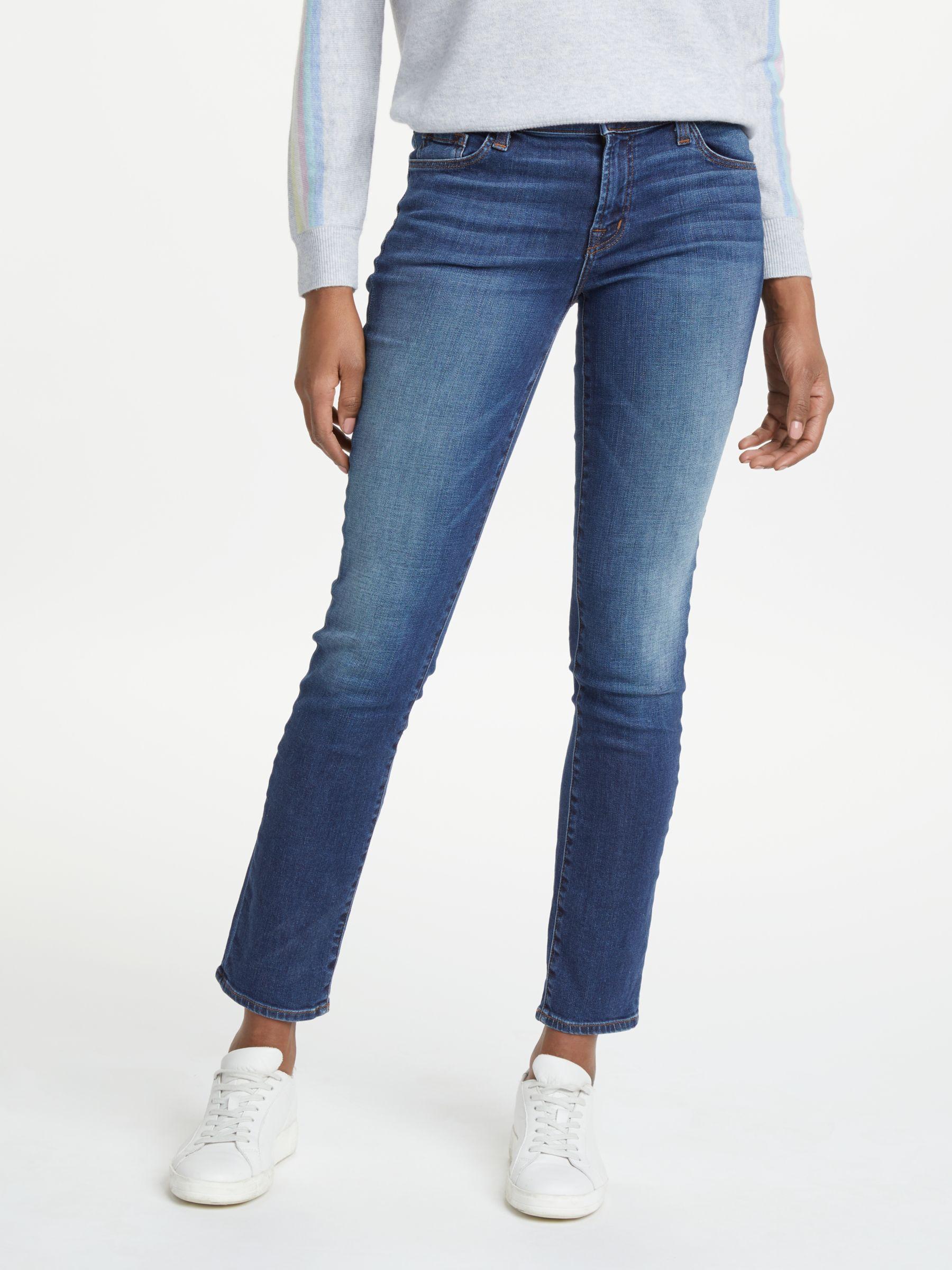 J Brand J Brand Amelia Mid Rise Straight Jeans, Vanity