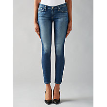 Buy AG The Harper Straight Skinny Jeans, Blue Online at johnlewis.com