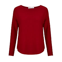 Buy Oui Dropped Shoulder Knit, Scarlet Sage Online at johnlewis.com
