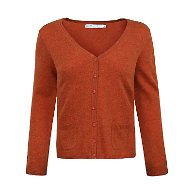 Seasalt Cathedral V-Neck Cardigan, Rust