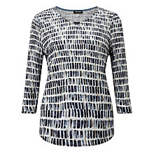 Buy Gerry Weber 3/4 Sleeve Printed Jumper, Navy/White Online at johnlewis.com