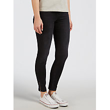Buy Calvin Klein High Rise Skinny Ankle Zip Jeans, Black Lake Online at johnlewis.com