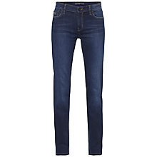 Buy Calvin Klein Mid Rise Straight Jeans, Wonder Dark Online at johnlewis.com
