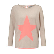 Buy Cocoa Cashmere Star Cashmere Jumper, Oatmeal/Mango Online at johnlewis.com