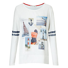 Buy Oui Nautical T-Shirt, White/Blue Online at johnlewis.com