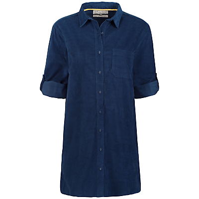Seasalt Arts Club Longline Shirt, Marine