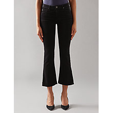 Buy AG The Jodie Crop Bootcut Jeans, Black Online at johnlewis.com